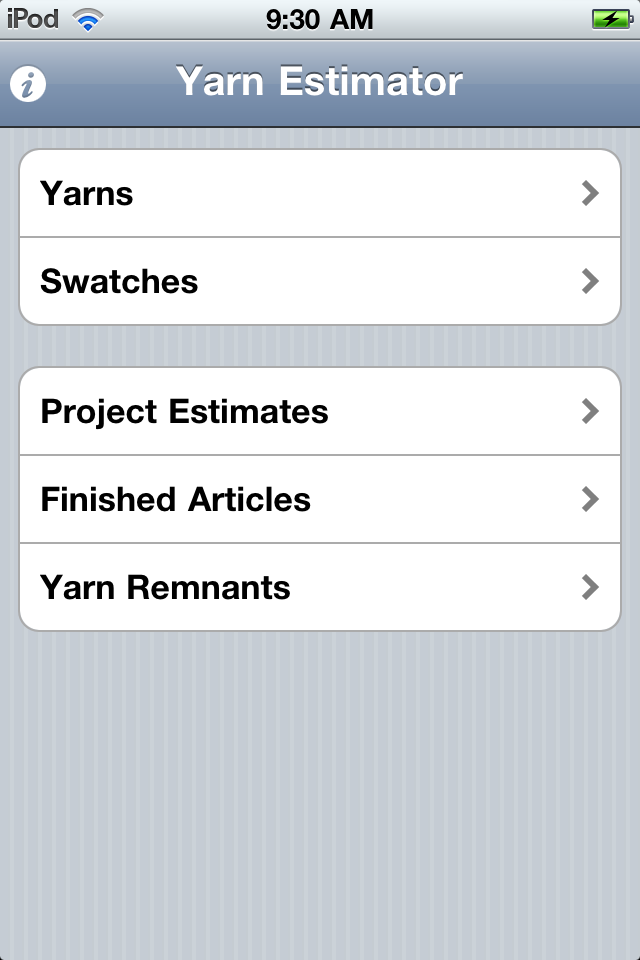 Yarn Estimator